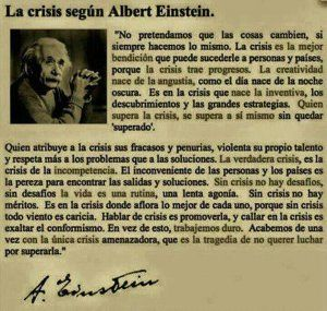 crisis segun albert einstein