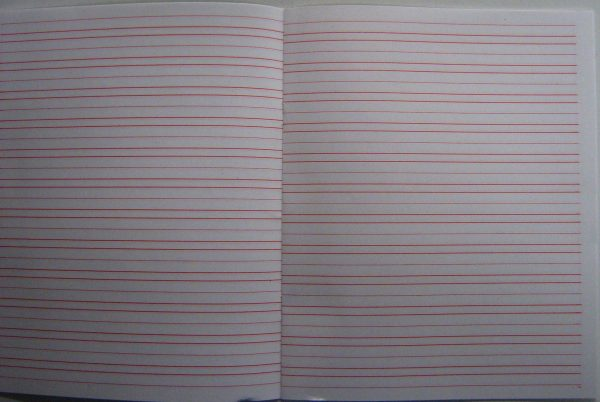 """#46 Narrow Ruled Writing Notebook - Booklet Size 8.5"""" X 7"""