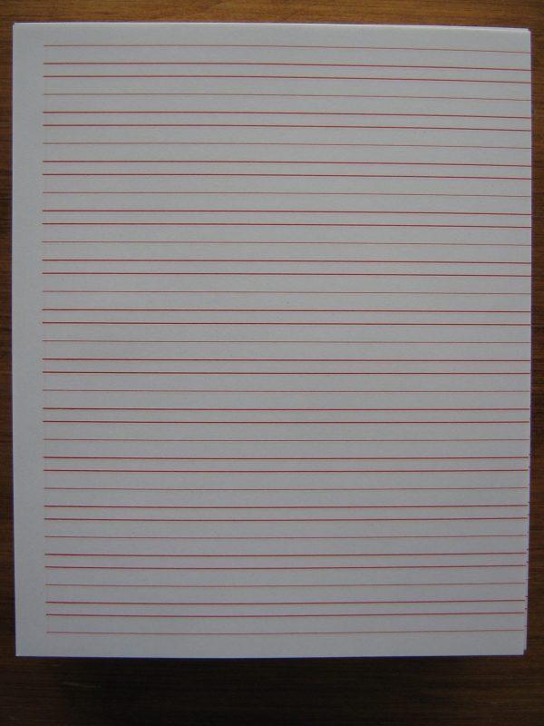 "#45 Narrow Ruled Writing Paper - Sheet Size 8.5"" X 7"
