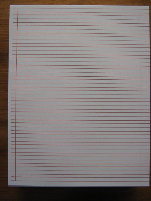 "#45a Narrow Ruled Writing Paper - Sheet Size 8.5"" X 11"