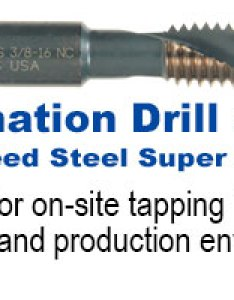 Type ag hss super premium combination drill  tap also tapping feed and speed viking tool rh vikingdrill
