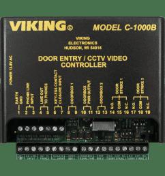 c 1000b two door entry camera controller viking electronics viking 2000a intercom wiring diagram [ 1000 x 1000 Pixel ]