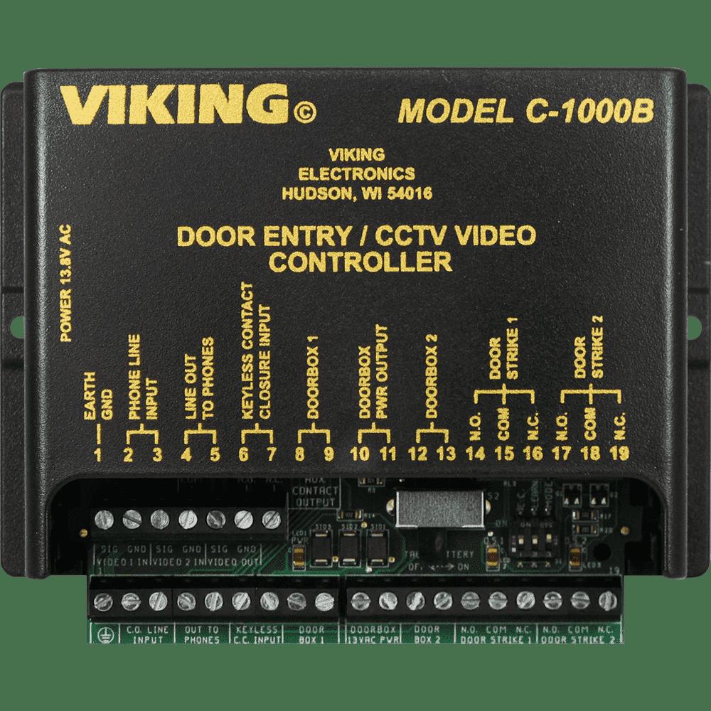 medium resolution of c 1000b two door entry camera controller viking electronics viking 2000a intercom wiring diagram
