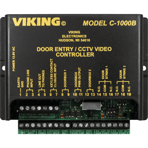 small resolution of c 1000b two door entry camera controller viking electronics viking 2000a intercom wiring diagram