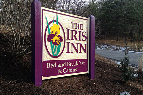 iris inn sign viking forge design