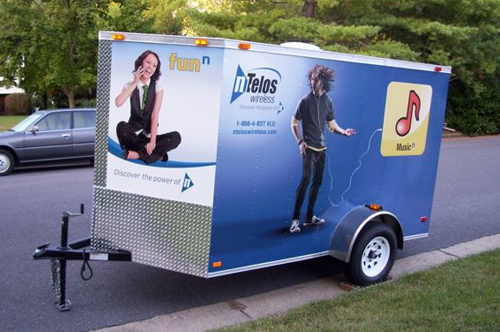 ntelos trailer vehicle wrap viking forge design