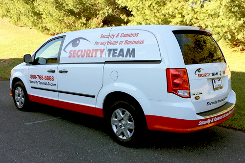 security van vehicle wrap viking forge design