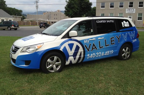valley vw van vehicle wrap viking forge design