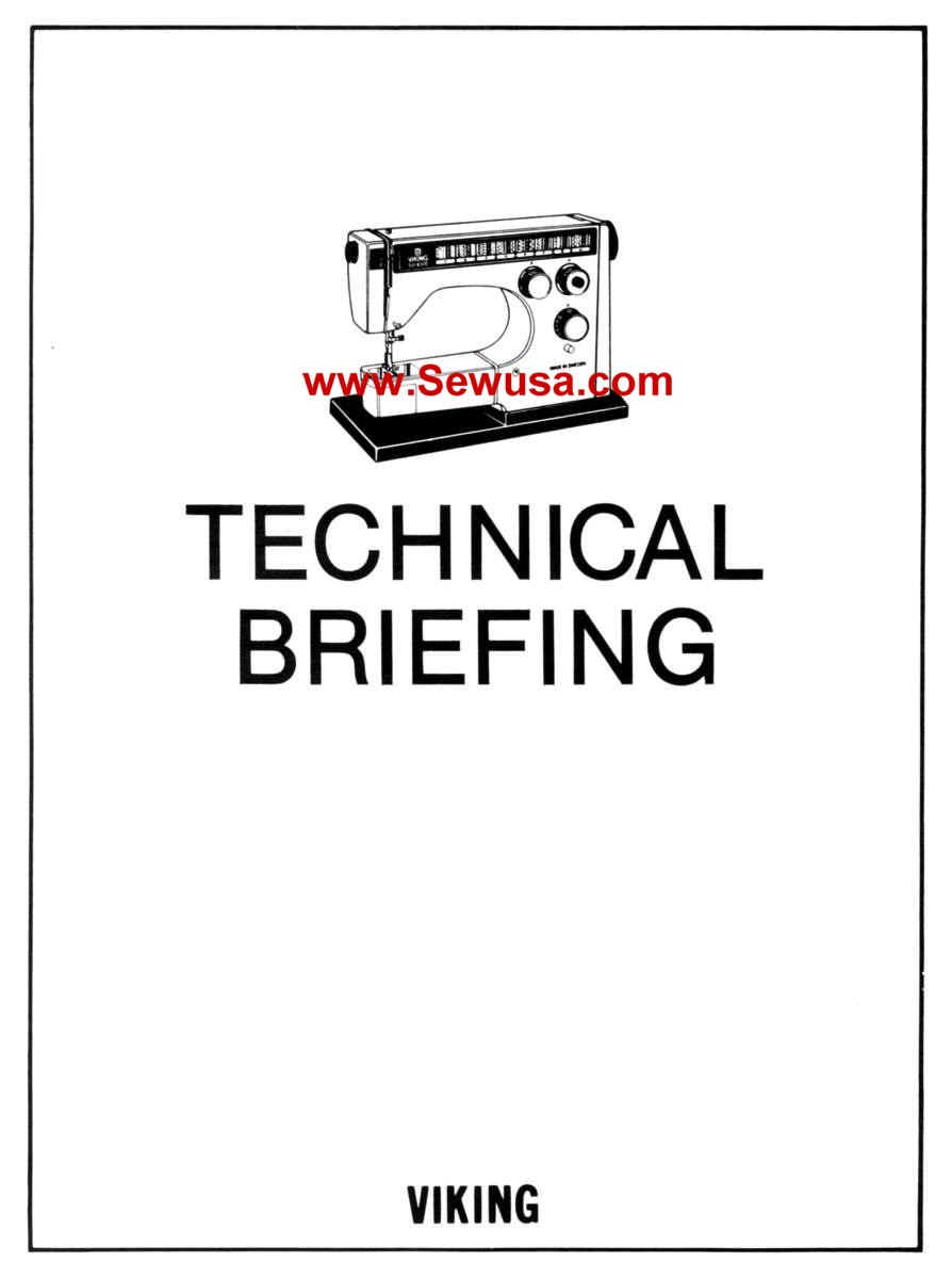 Viking Husqvarna Sewing Machine Service Manuals
