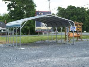 metal carport for two cars