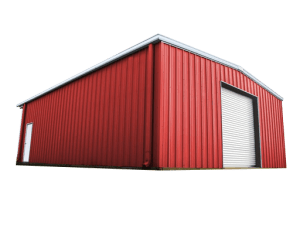 red metal building