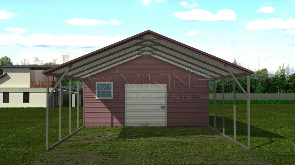 18x31 Carport With Storage Shed