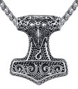Mens-Stainless-Steel-Viking-Thors-Hammer-Pendant-Necklace-24-Link-Chain-aap150-0