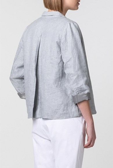 Image result for trenery SPORTY YARN DYED LINEN JACKET