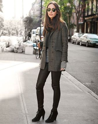 how to wear check coat
