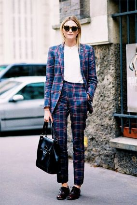 Image result for checked womens suits streetstyle
