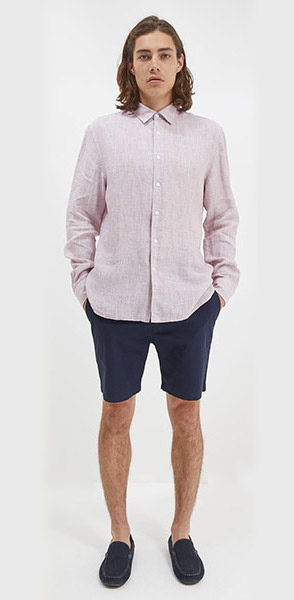 Smithson linen yarn dyed shirt