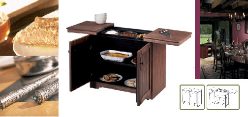Real Wood Buffet Cart