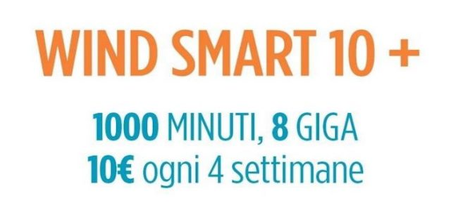 Wind Smart 10+ con 1000 minuti e 8GB a 10€ acquistabile su Amazon 1