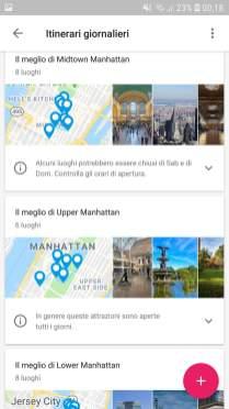 Google Trips Itinerari