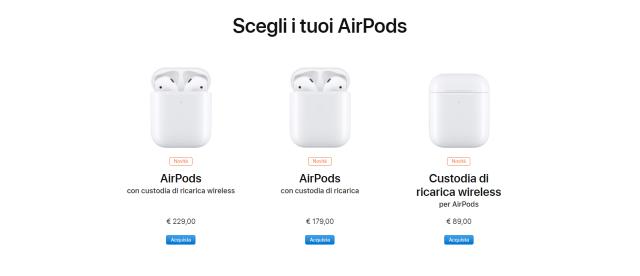 Nuove Airpods 2 : gli auricolari Apple rinnovati 1