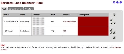 vCloud Director Howto: Load balancing with free pfSense – Cont'd
