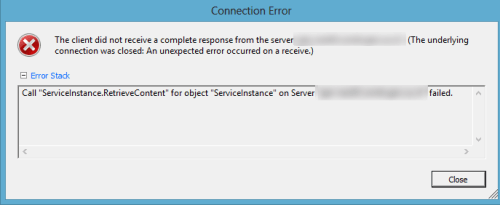 ServiceInstance.RetrieveContent