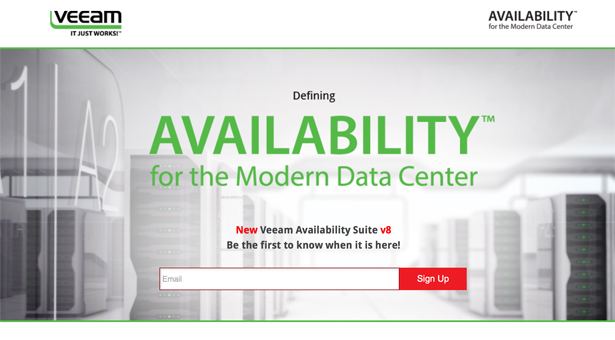 Veeam Availability Suite v8 - Be the first to know when it's there!