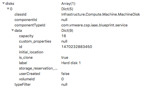 How to add extra disks to a VM JSON request in vRA when using ASD
