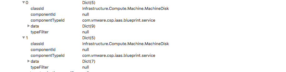 How to add extra disks to a VM JSON request in vRA when using ASD/XaaS