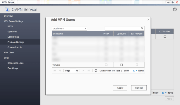 Configure OpenVPN on QNAP and connect an Apple OS X client