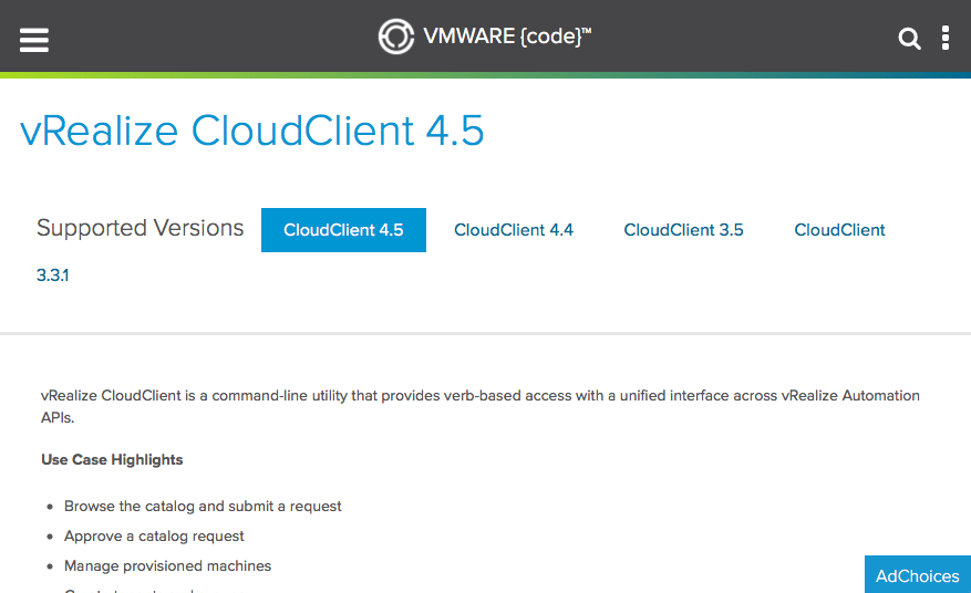 Using the Cloud Client to export and import content from/to vRA