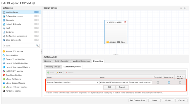 A first look at the new vRealize Automation 7 4 AWS user