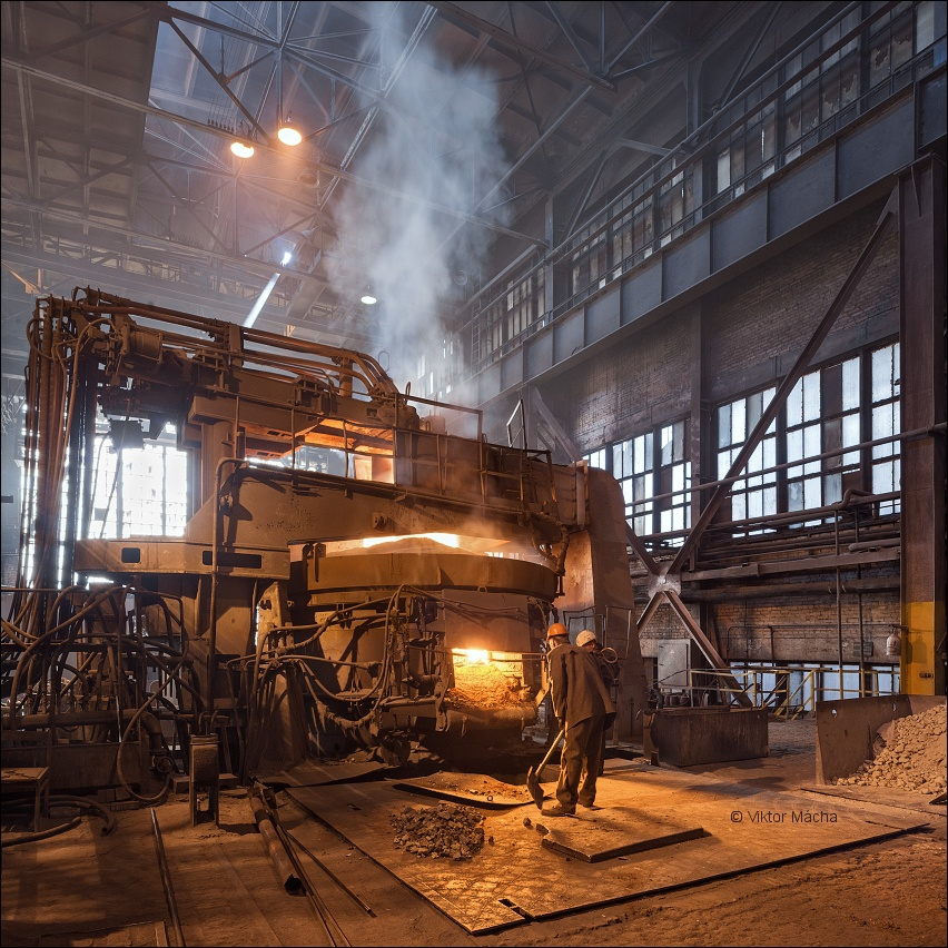 OMZ foundry, by the electric arc furnace