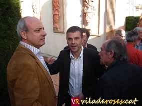 El president del Consell Comarcal, Xavier Sanllehí, i el conseller de Territori i Sostenibilitat, Santi Vila