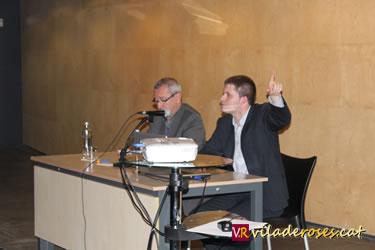 Cales Pàramo i Marc Danés en un moment de la xerrada-col·loqui