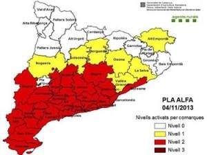 Mapa perill d'incendi