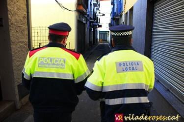 Dispositiu Policia Local de Roses i Mossos d'Esquadra