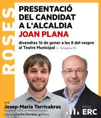 Presentació Joan Plana candidat a l'alcaldia de Roses