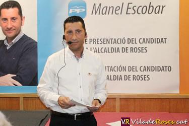 Manel Escobar candidat a l'alcaldia de Roses