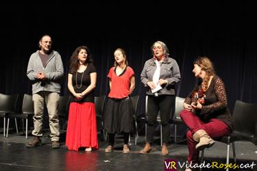 La Rusó Sala amb els participants de l'Aula de Cant