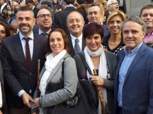Marxa d'alcaldes en suport de Mas