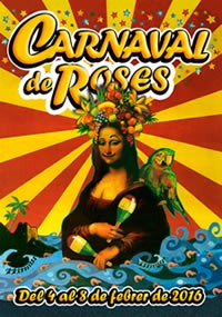 Cartell de Carnaval de Roses 2016