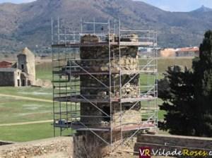 Torre de la muralla medieval de la Ciutadella de Roses