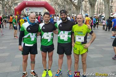 Club Atletisme Roses a la Cursa de Sant Josep de Figueres