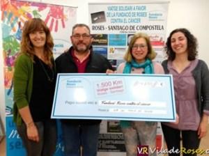 Viatge solidari en bicicleta de Roses a Santiago de Compostela