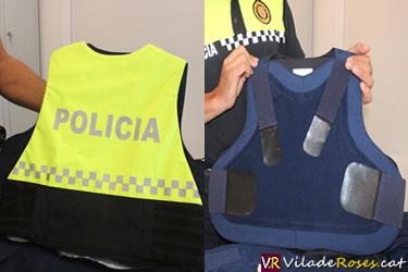 Armilles antibales de la Policia Local de Roses