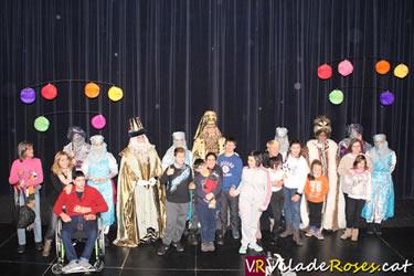 Els Reis Mags de l'Orient amb els nens discapacitats de Roses