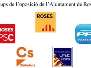 Grups municipals de l'oposició a l'Ajuntament de Roses