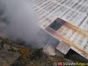 Foc a l'antiga depuradora de marisc